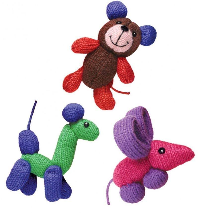 Kong Cat Toy - Softies Balloon Buddies, Mixed Colors, 6x6x10cm