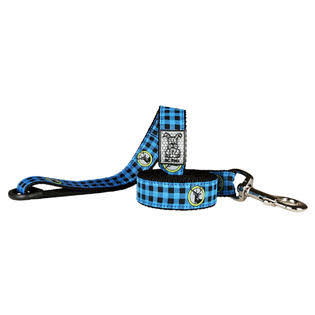 RC Pet Products Nylon Dog Leash - Blue Plaid