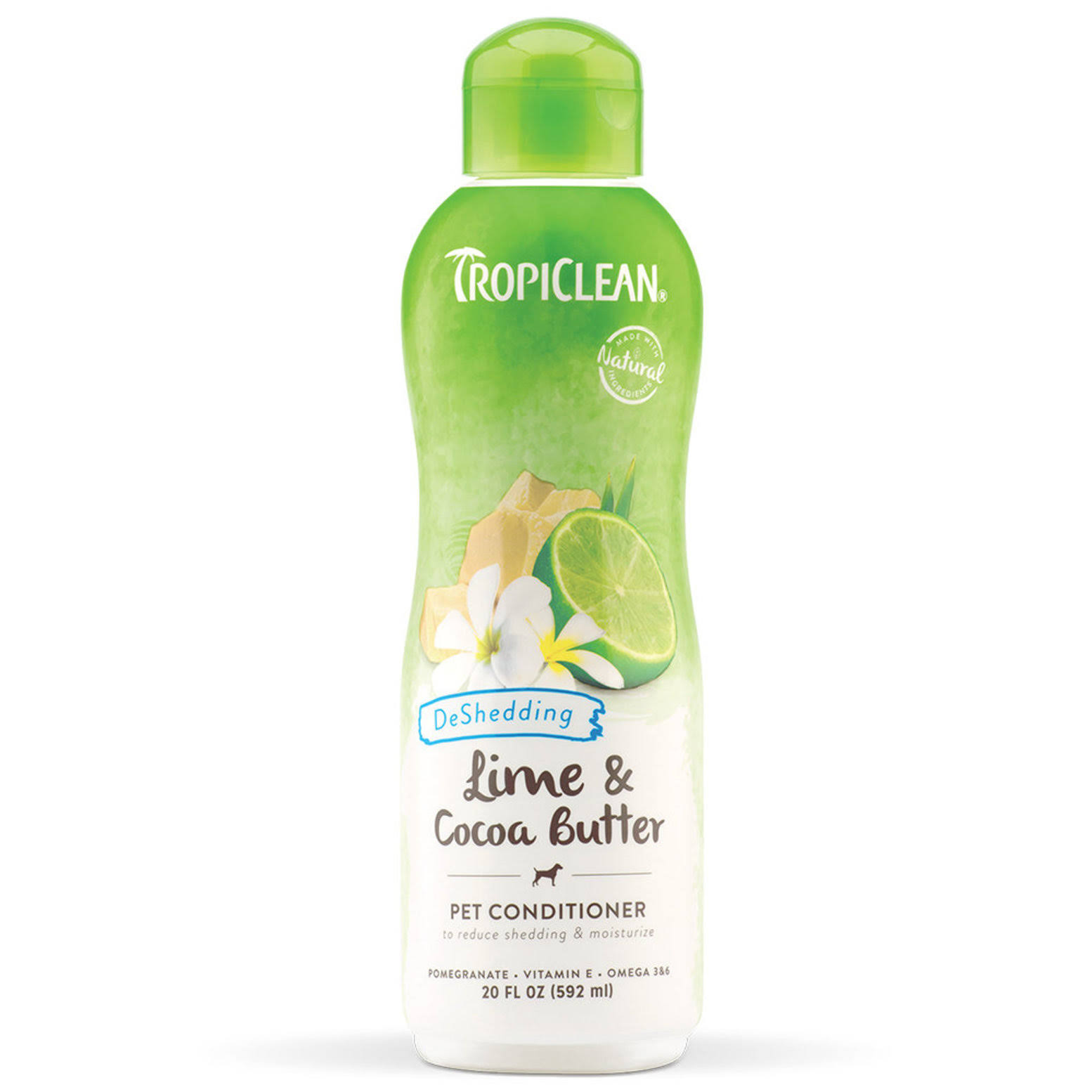 TropiClean Lime and Cocoa Butter deShedding Conditioner for Pets