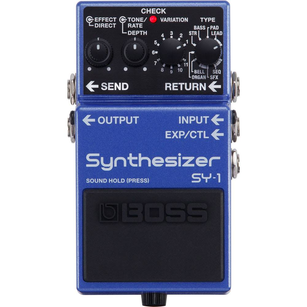 Boss Sy 1 Synthesizer Guitar Effects Stompbox Pedal