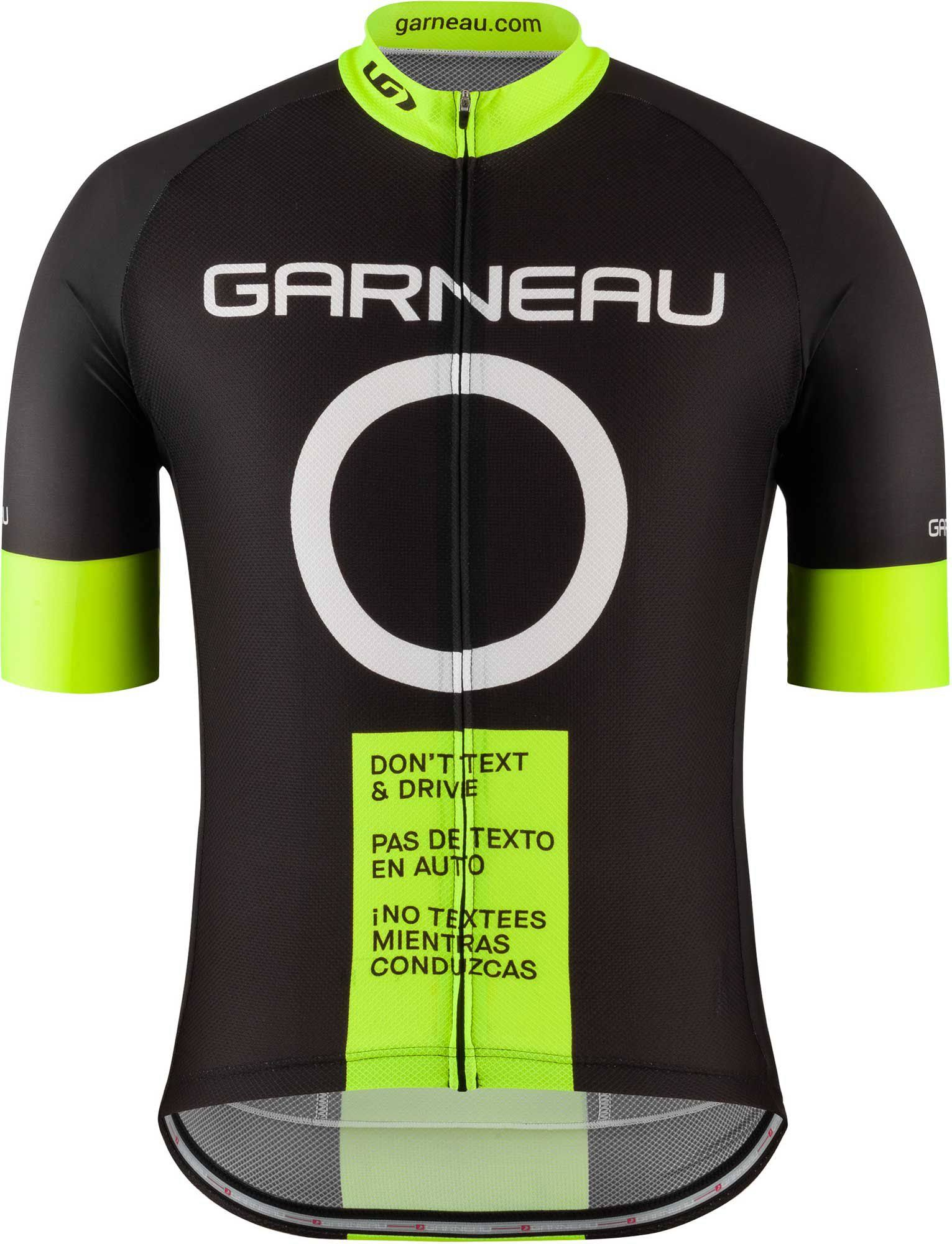 Louis Garneau Men's Don't Text and Drive Cycling Jersey, Size: XL, Black