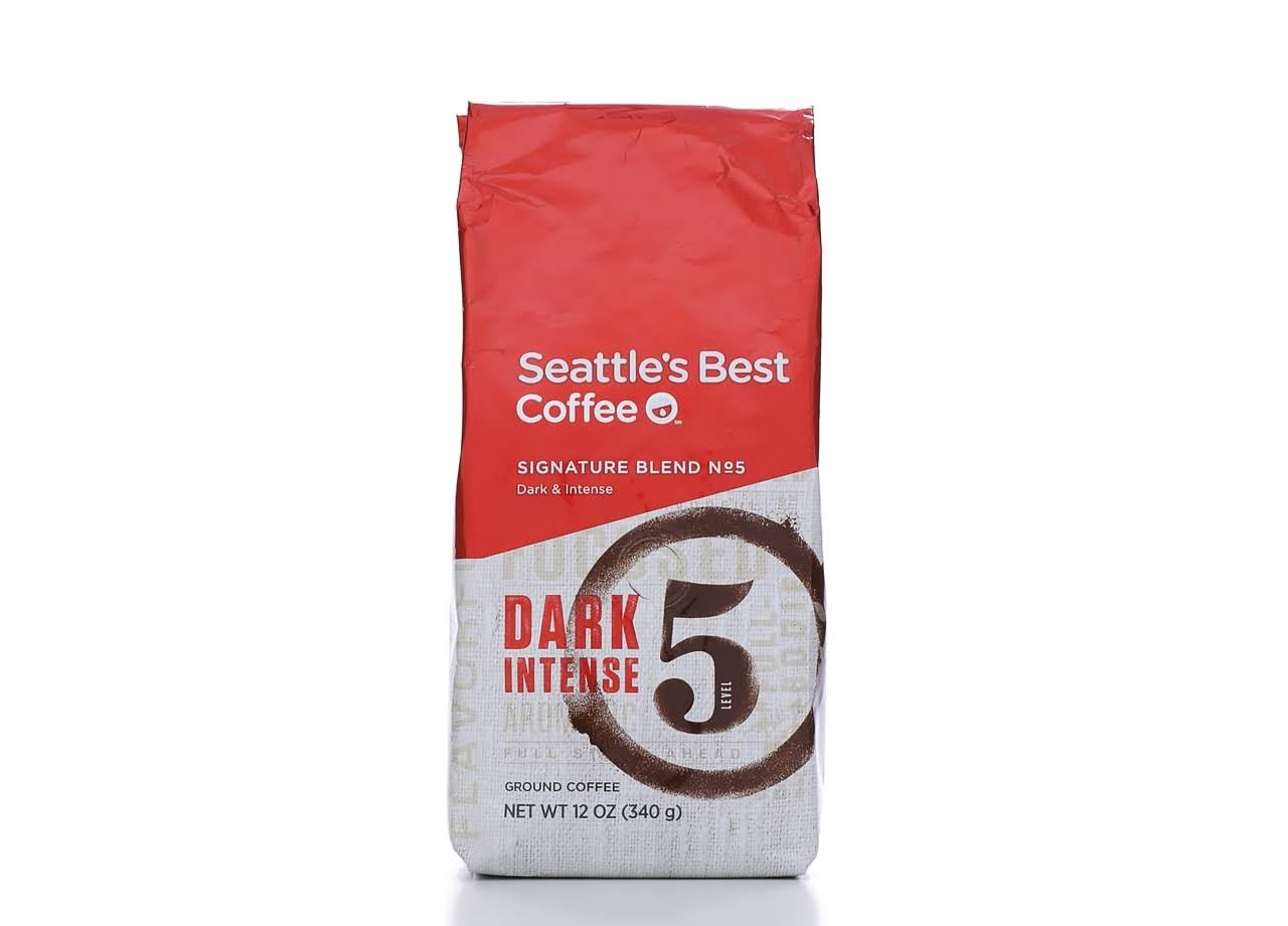 Seattle's Best Coffee Signature Blend No5 Dark and Intense Ground Coffee - 12oz