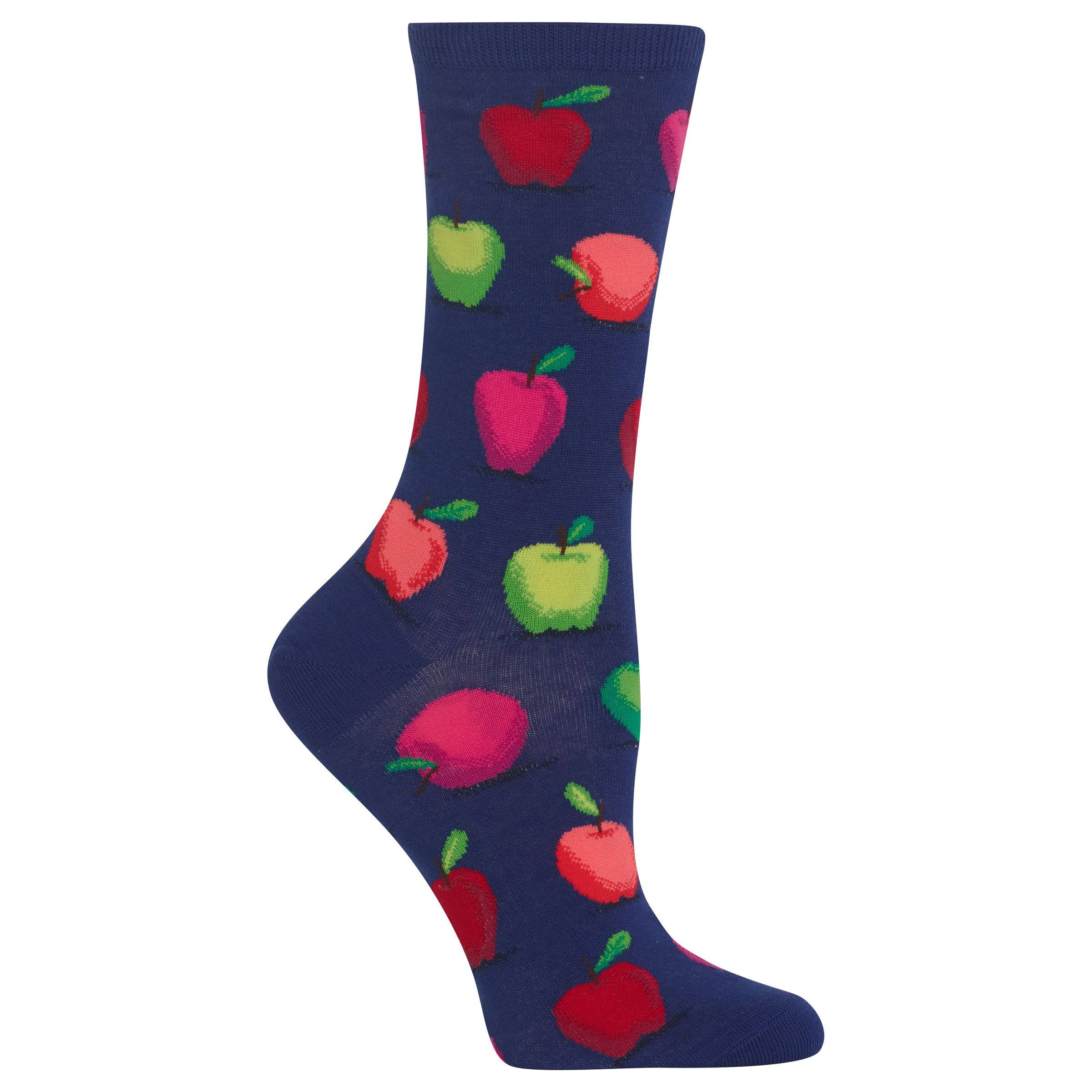 Hot Sox Women's Apples Socks - Blue