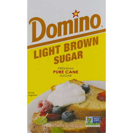 Domino Pure Cane Sugar - Light Brown, 1lb, 24/case