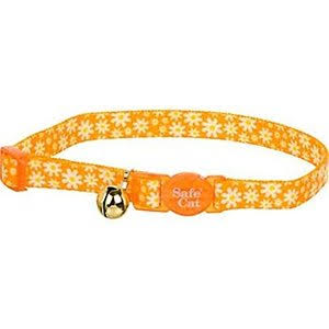 Coastal Pet Fashion Safe Cat Adjustable Breakaway Collar Daisy Yellow