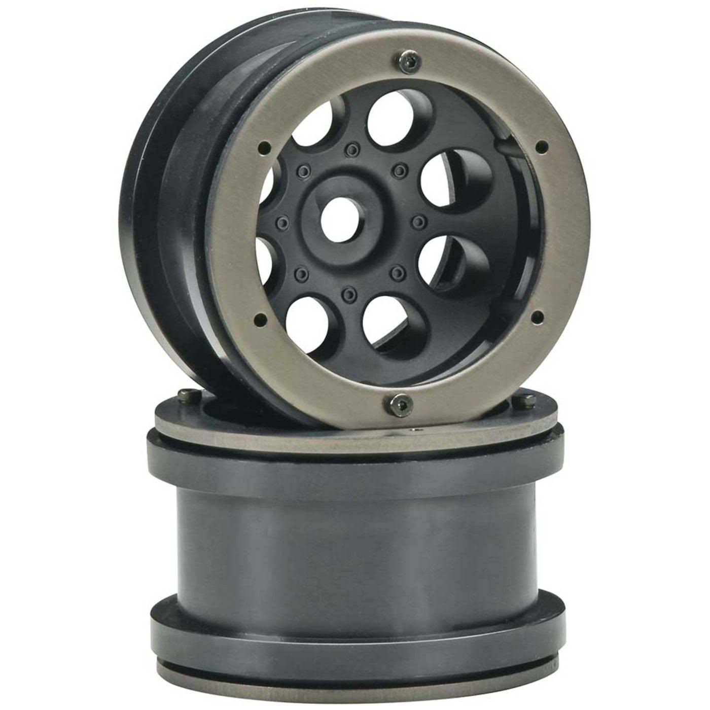 Axial AX8097 2.2 8 Hole Beadlock Scale Wheels - Black, 2pc