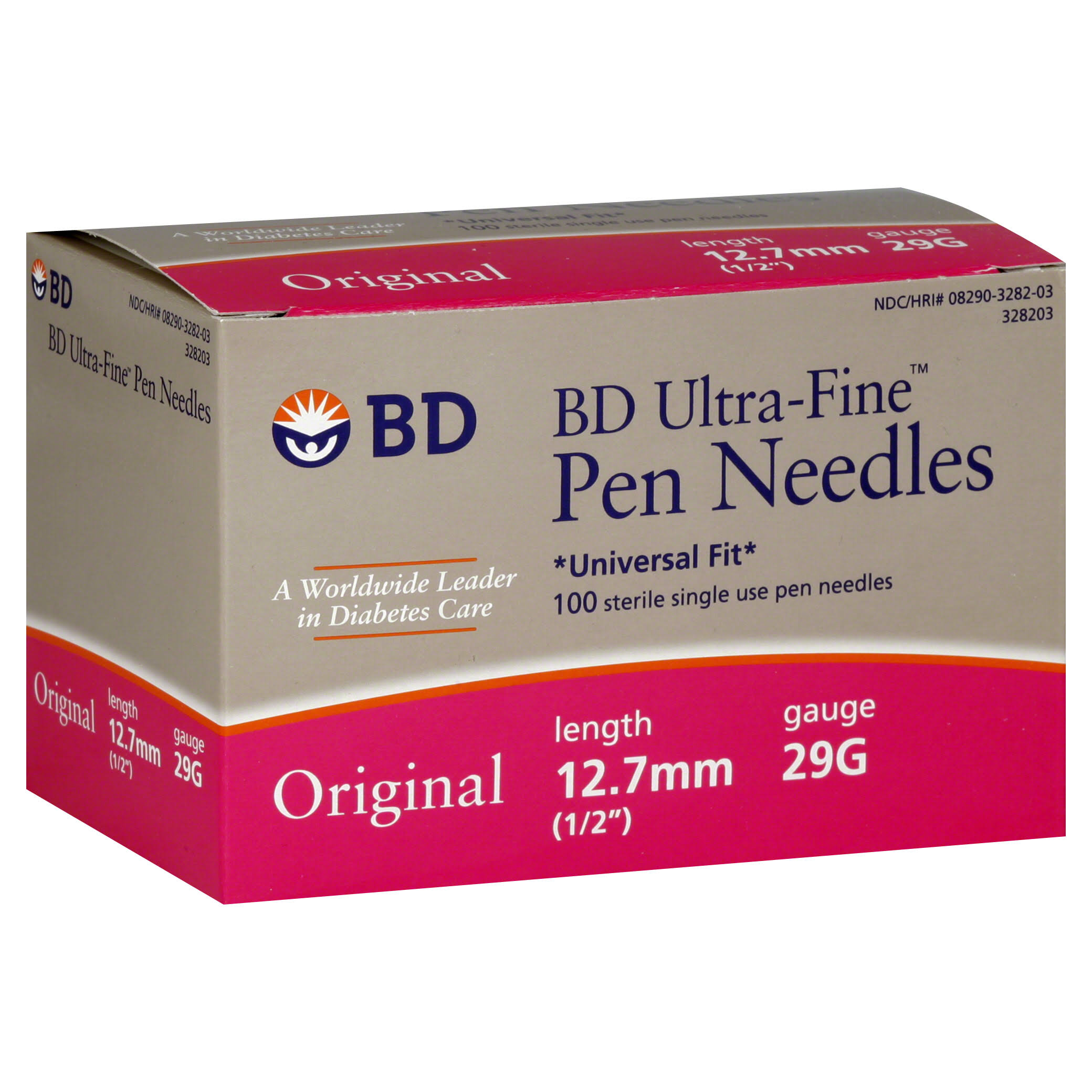 Bd Ultra Fine Original Pen Needles - 29g, 12.7mm, 100ct