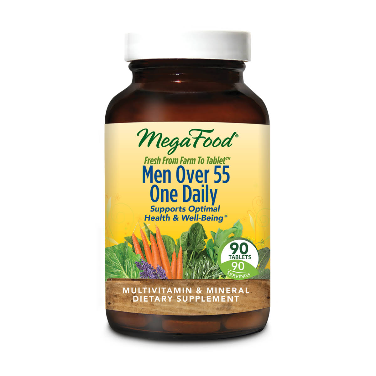 MegaFood - Men Over 55 One Daily - 90 Tablets