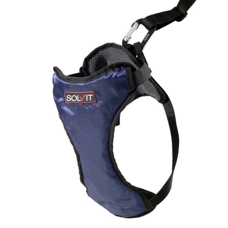 Solvit Products Deluxe Car Safety Dog Harness - Blue, X-Large