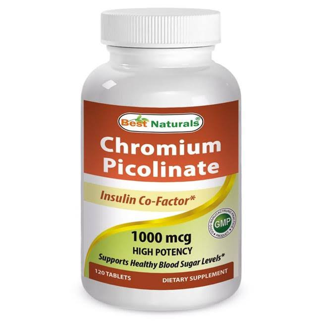 Best Naturals Chromium Picolinate Dietary Supplement - 1000mcg, 120 Tablets