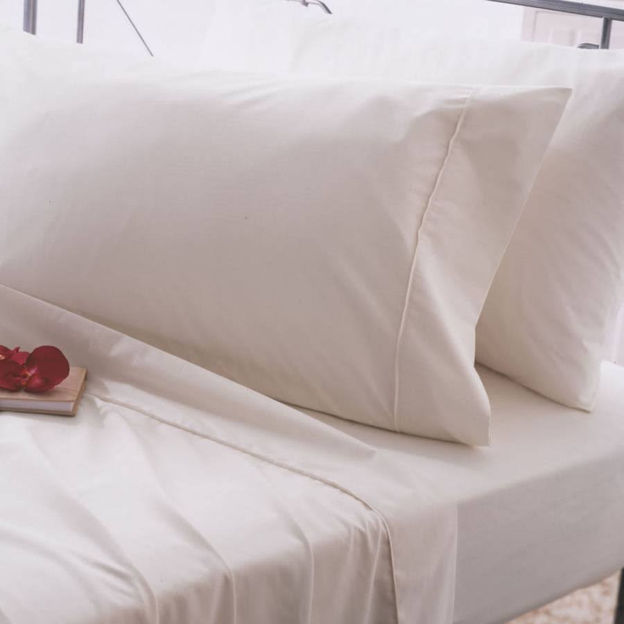 Belledorm 200 Thread Count Egyptian Cotton Flat Sheet - Single - Ivory