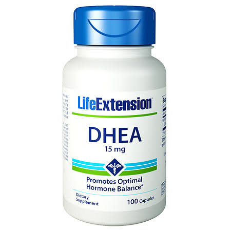 Life Extension Dhea Supplement - 15mg, 100 Capsules