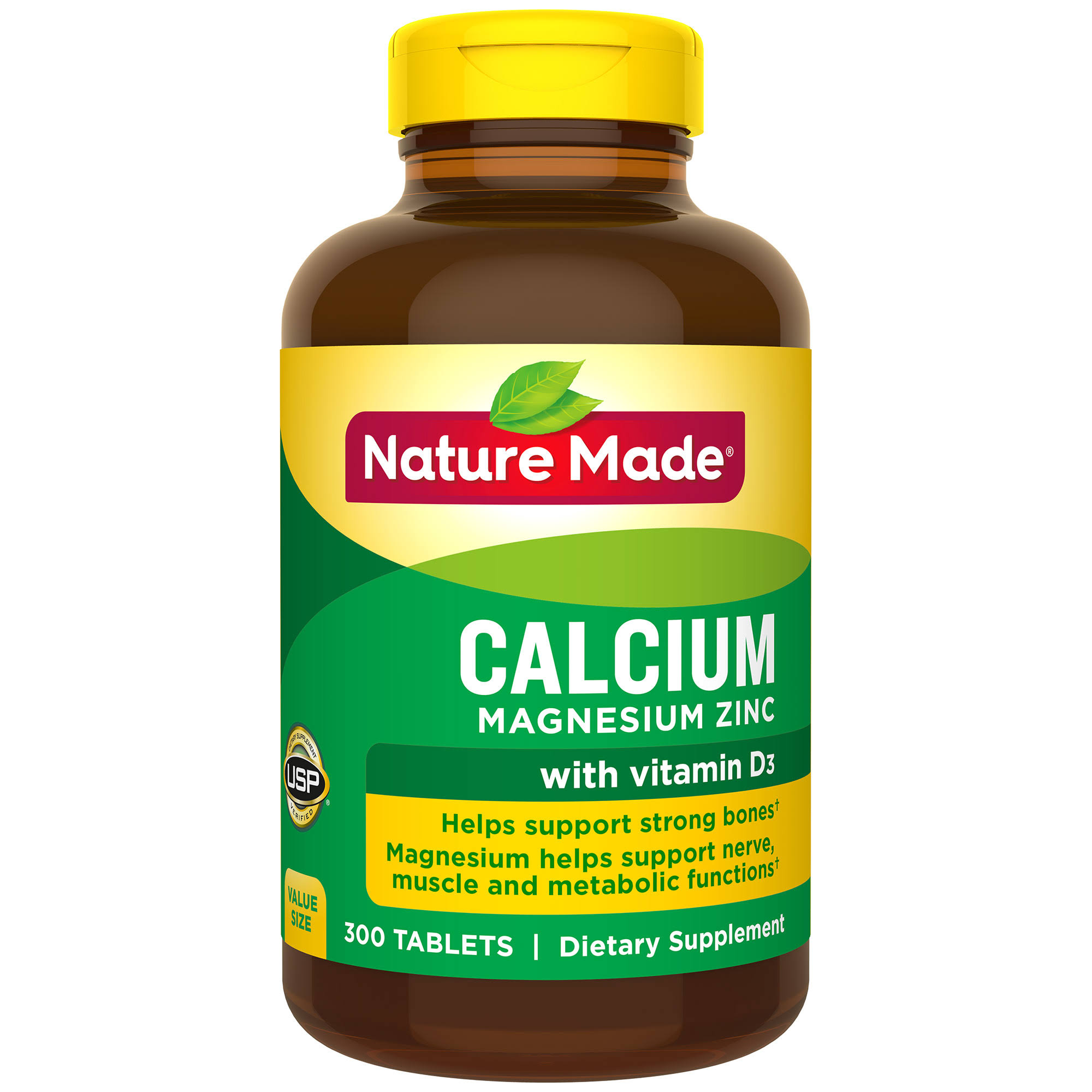 Nature Made Calcium Magnesium Zinc - 300 Capsules