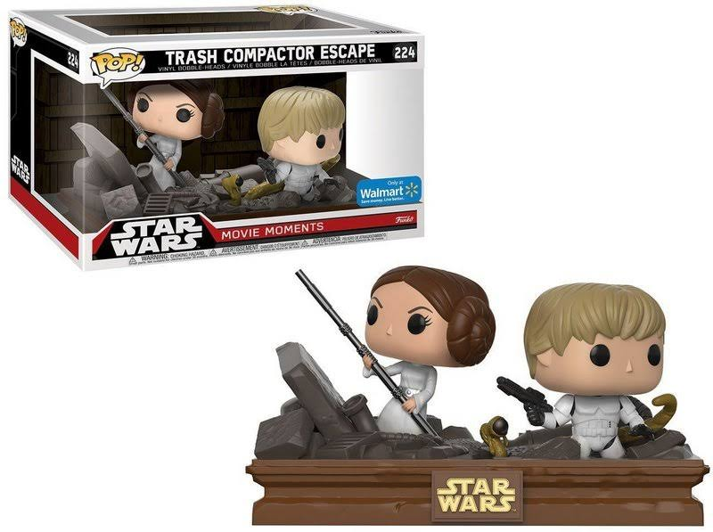 Funko Pop Star Wars Movie Moments Trash Compactor Escape 224 Leia Luke Skywalker Action Figure