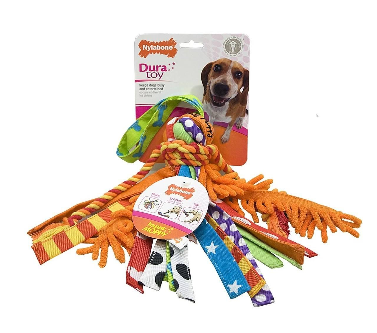 Nylabone Dura Toy Happy Moppy Fabric Dog Toy - Medium