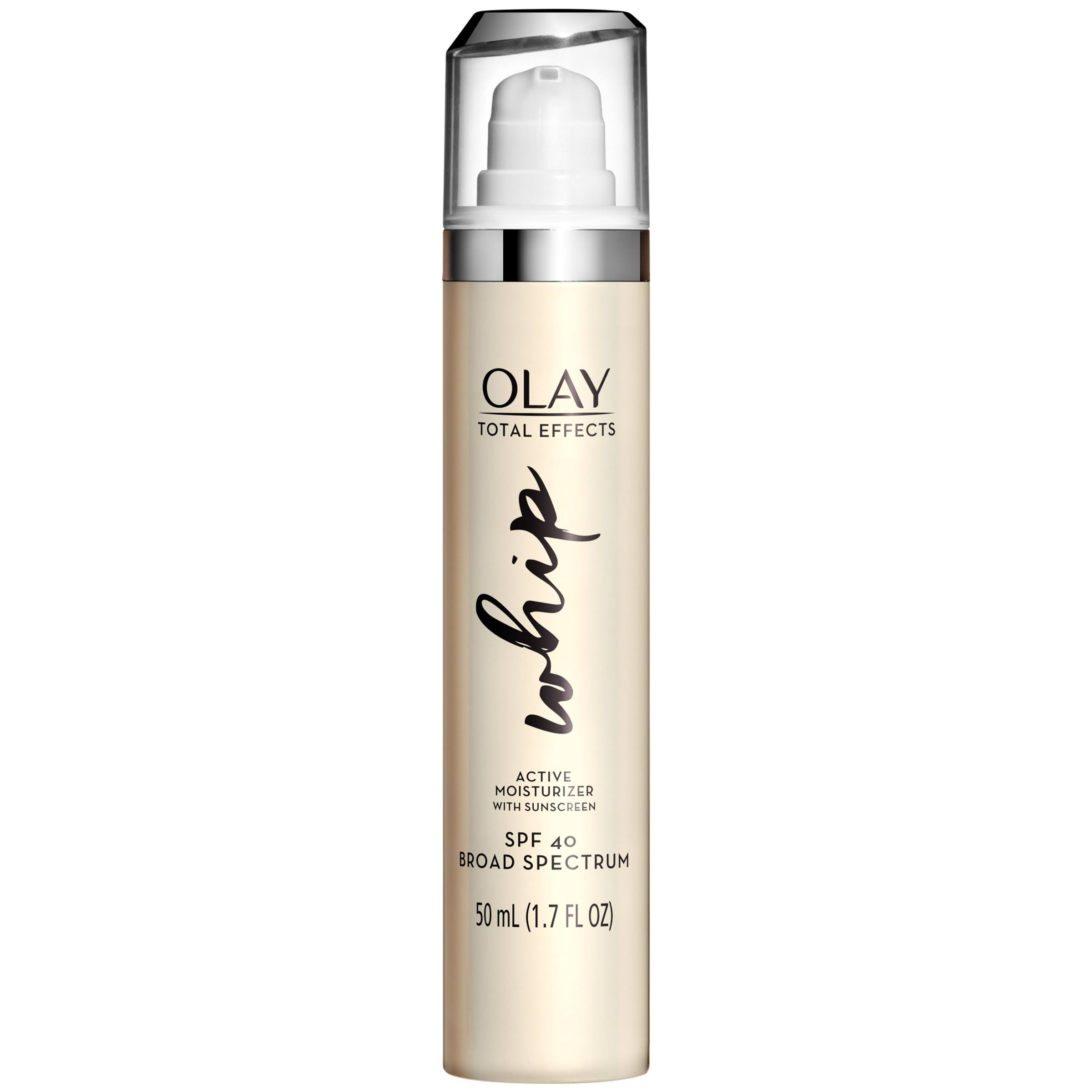 Olay Total Effects Whip Face Moisturizer with Sunscreen SPF 40, 1.7 fl oz