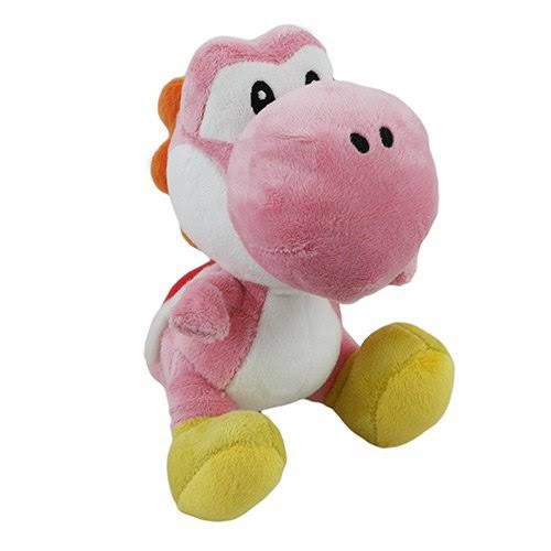 Little Buddy Nintendo Official Super Mario Plush Toy - Yoshi, Pink, 15cm