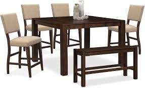 Value City Kitchen Table Sets by The Tribeca Counter Height Dining Collection Tobacco Value