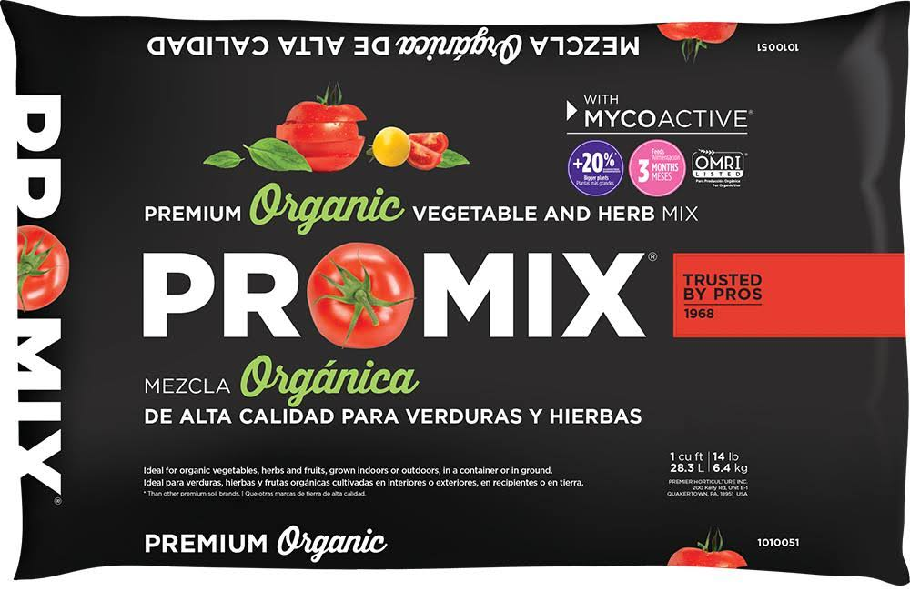 Pro-Mix Ultimate Organic Vegetable & Herb Mix Garden Soil