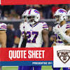 Quote Sheet | Bills plan to come back stronger in 2020
