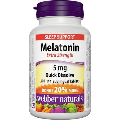 Webber Naturals Melatonin - 5mg, 144 Tablets