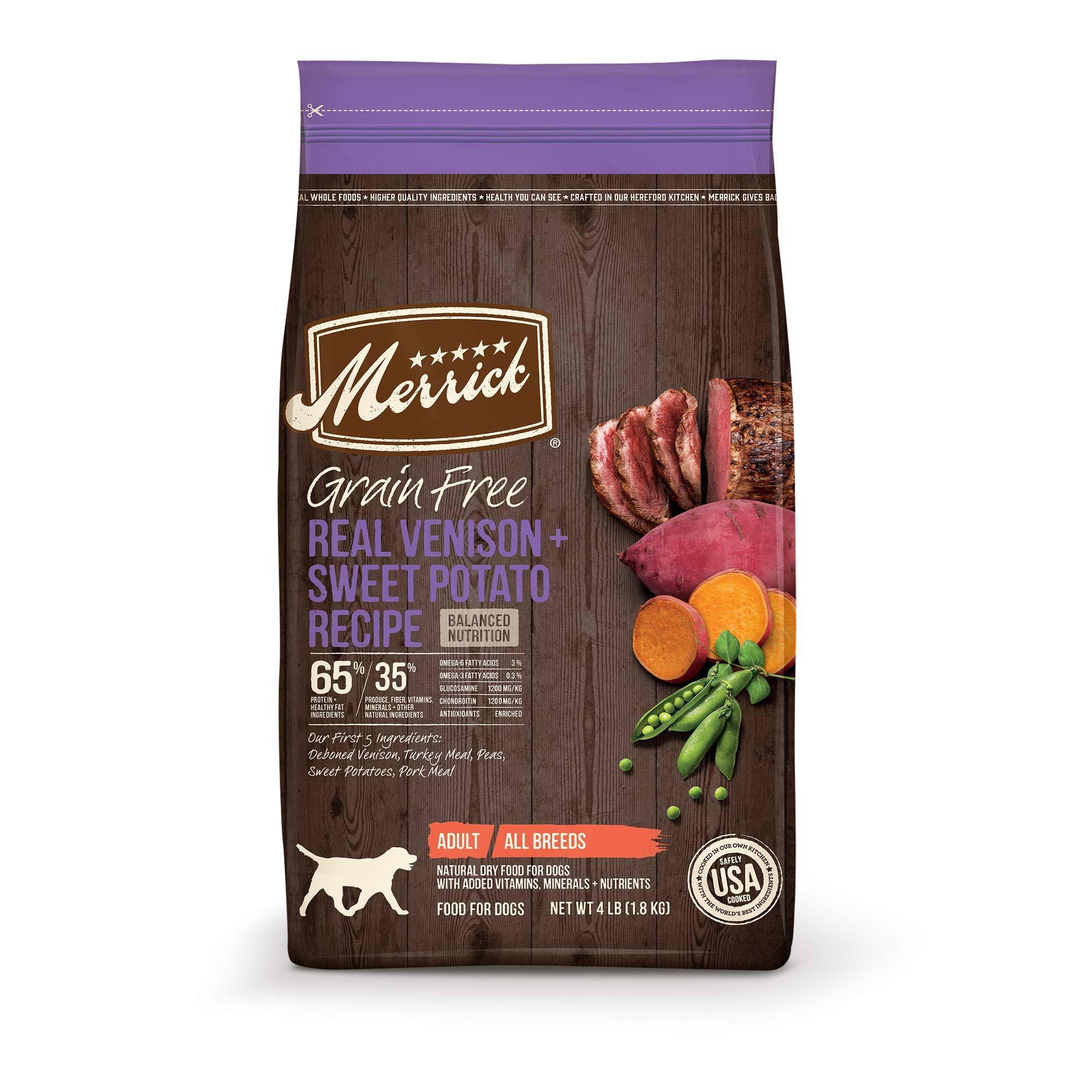 Merrick Grain Free Venison and Sweet Potato Recipe Dry Dog Food - 22lb