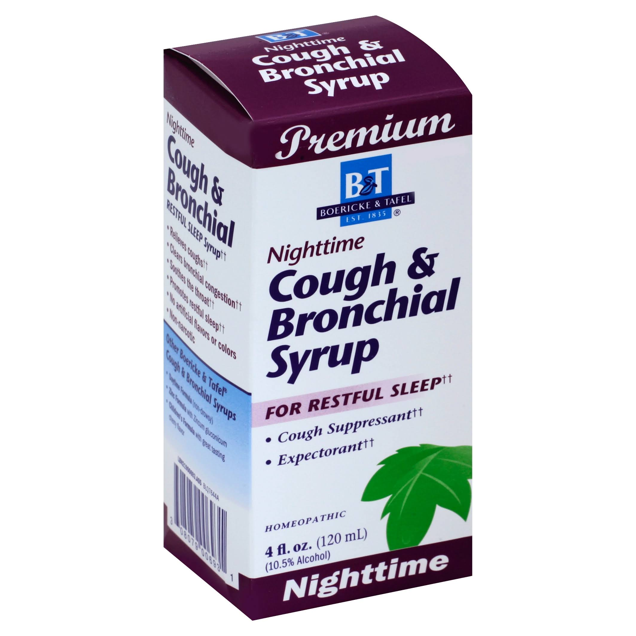Boericke and Tafel Nighttime Cough and Bronchial Syrup - 4oz