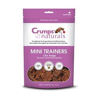 Crumps' Naturals Mini Trainers Chick Snaps Dry Dog Treats - Chicken Flavor