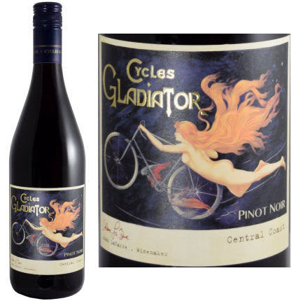 Cycles Gladiator Pinot Noir, Central Coast (Vintage Varies) - 750 ml bottle