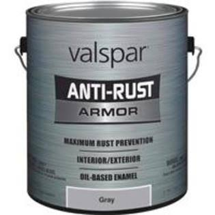 Valspar Gloss Anti-Rust Armor Oil-Based Enamel - Gray, 1gal