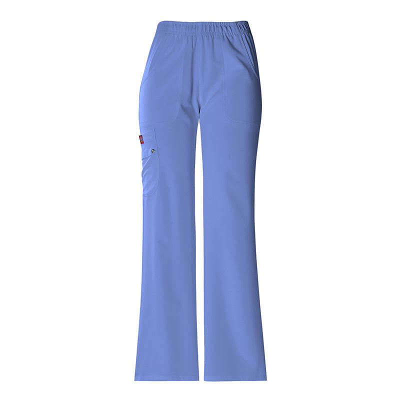 Dickies Women's Elastic Waist Solid Scrub Pants - Ceil Blue
