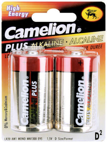 Camelion Alkaline D Batteries - 2 Pack