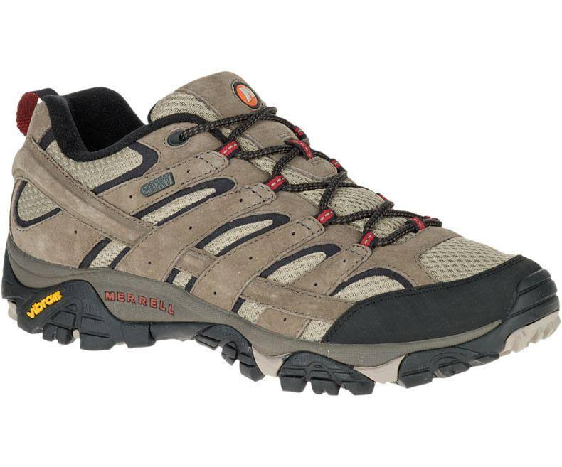 Merrell J08871 Men's Moab 2 Waterproof Hiking Shoes - Bark Brown, Size 8