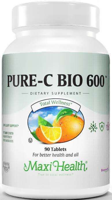 Maxi Health Pure-C-Bio 600 Supplement - 180ct