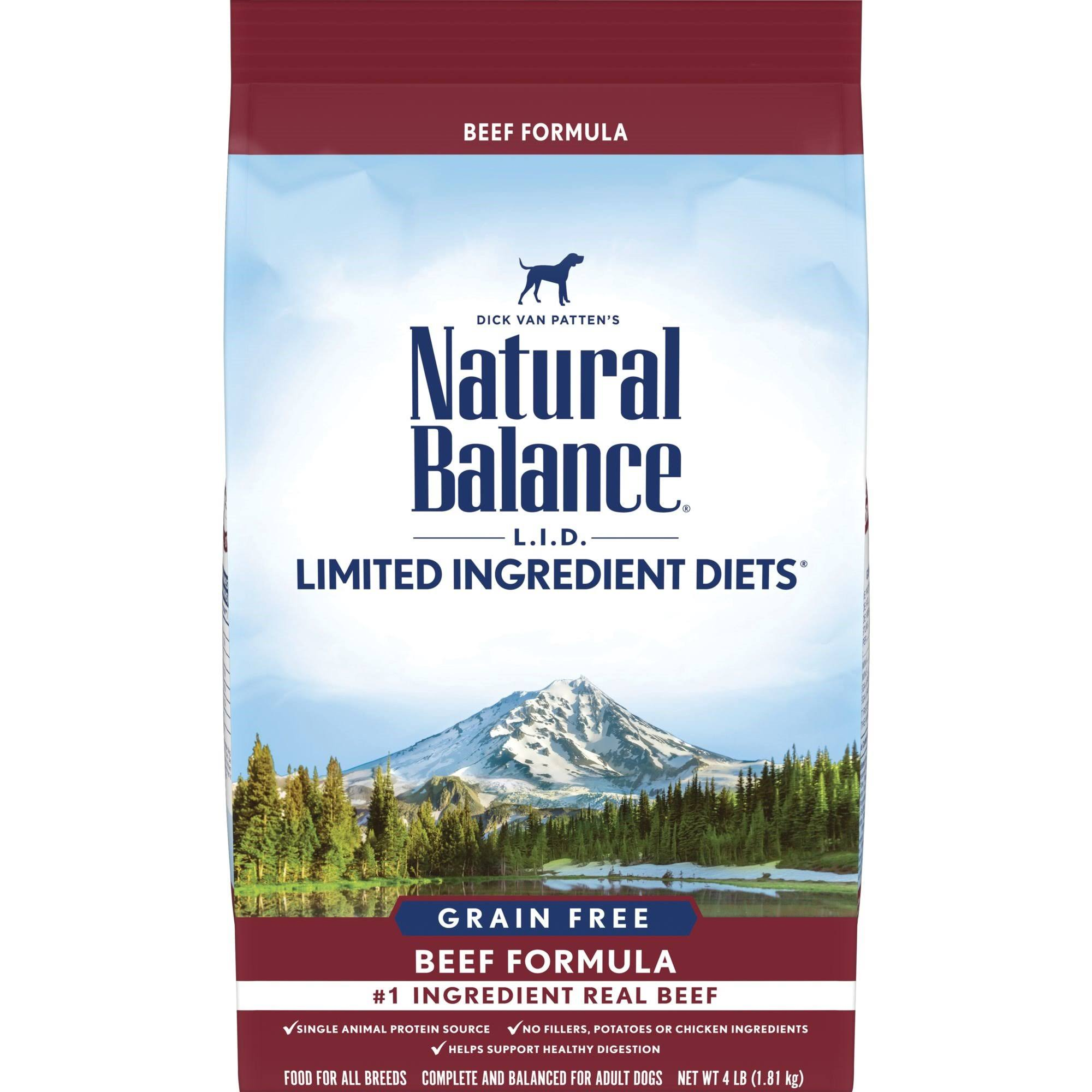 Natural Balance Limited Ingredient Diets High Protein Dry Dog Food - Beef Formula, 6 lbs