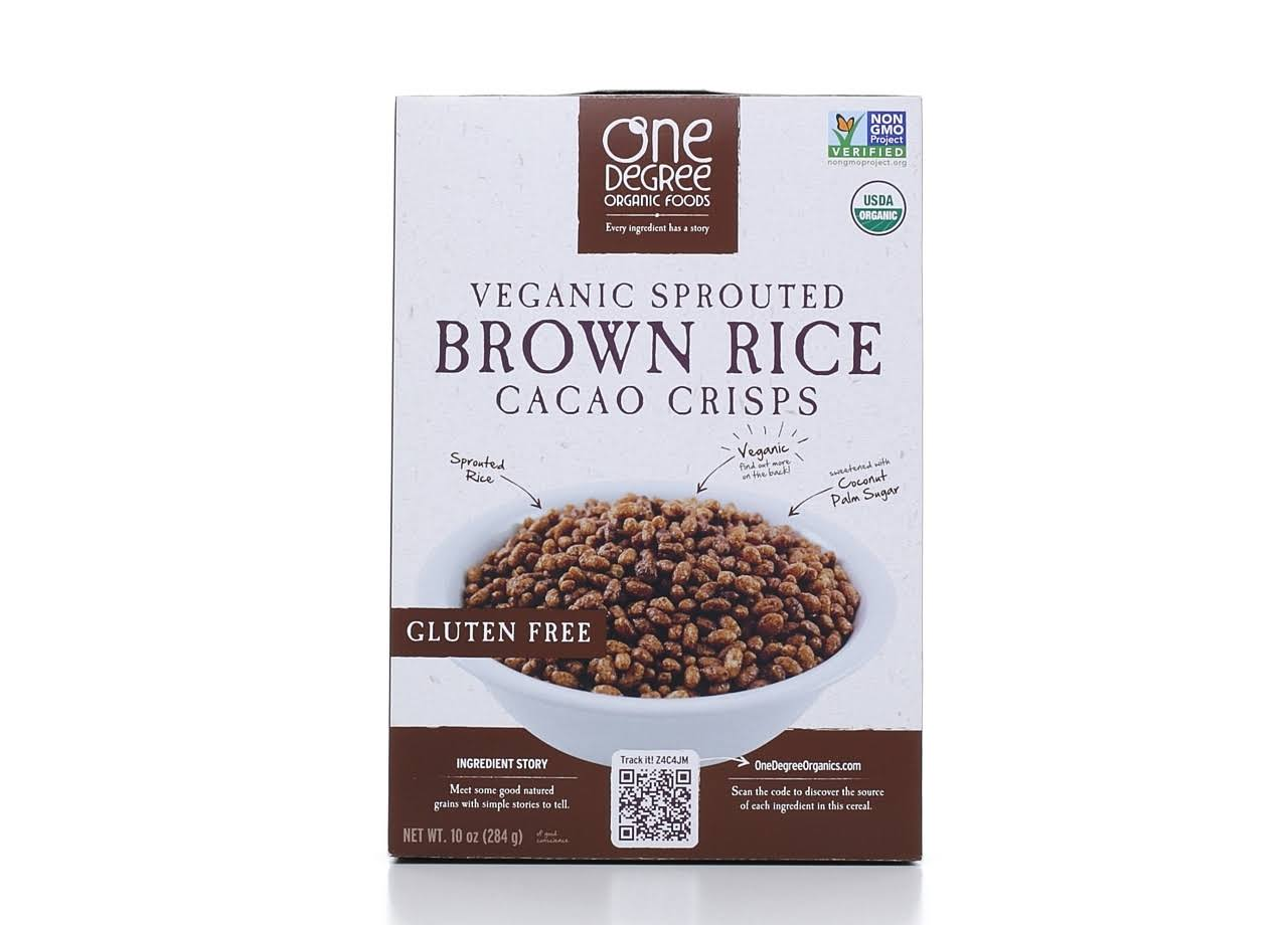 One Degree Organic Foods - Veganic Sprouted Brown Rice Cacao Crisp, 300ml