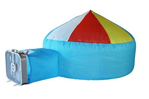 AirFort Build A Fort in 30 Seconds Inflatable for Kids Beach Ball Blue