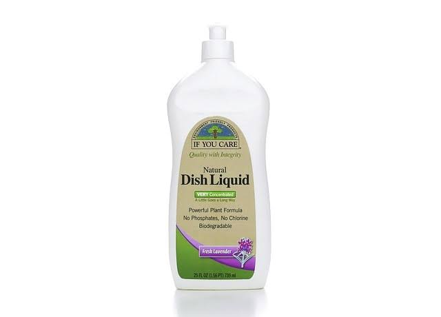If You Care Dish Liquid, Natural, Very Concentrated, Fresh Lavender - 25 fl oz