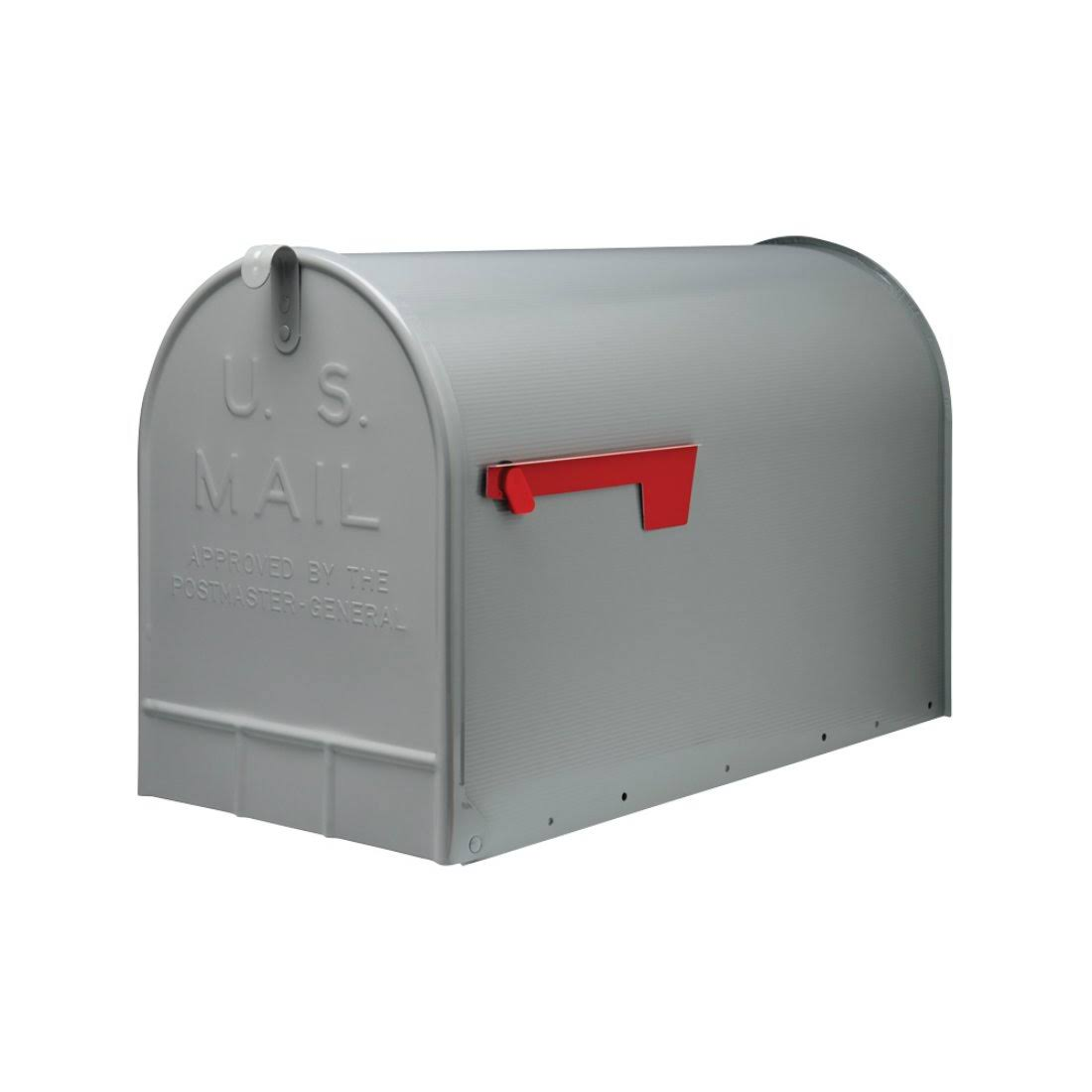 Solar Group Jumbo Heavy-Duty Post-Mount Mailbox - Gray