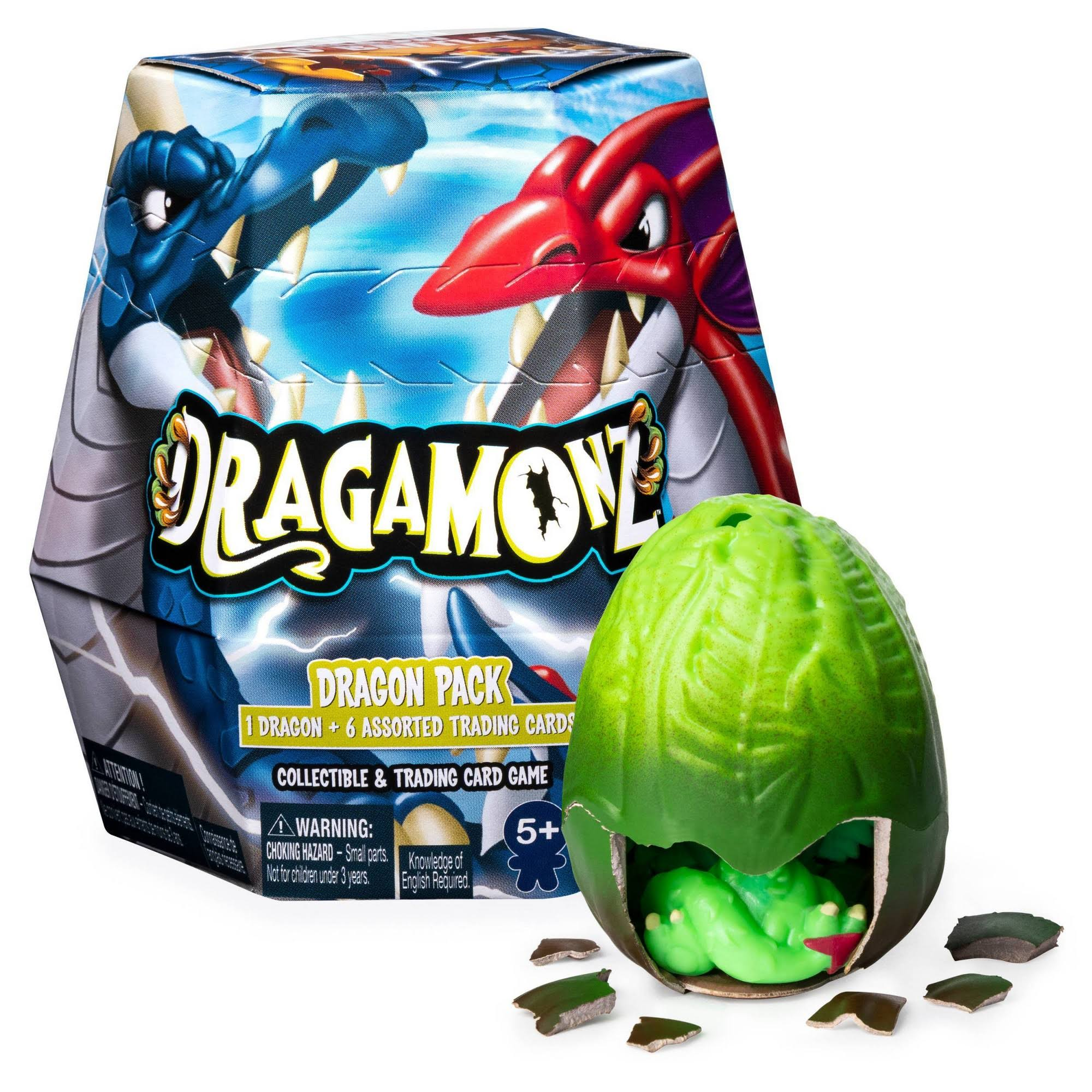 Dragamonz, Dragon 1-Pack, Collectible Figure and Trading Card Game, for Ages 5 and Up