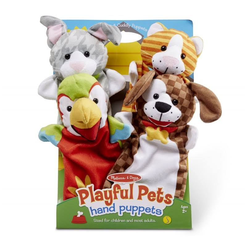 Melissa & Doug 19084 Playful Pets Hand Puppets Toy