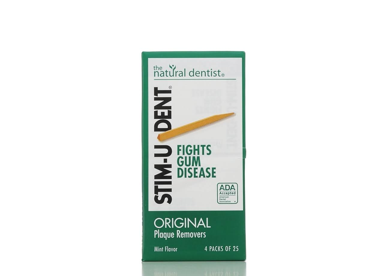 Stim-U-Dent Plaque Removers - Mint, 100ct