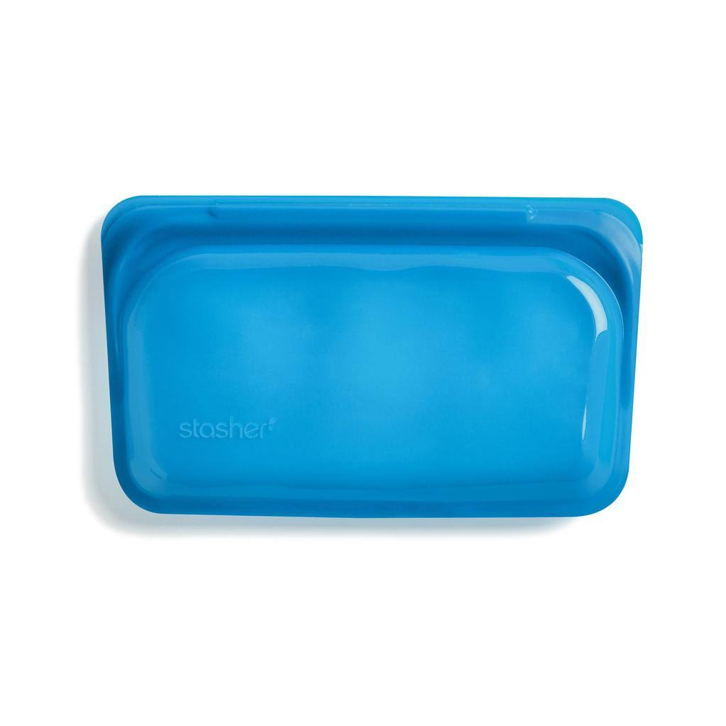 Stasher Reusable Silicone Snack Bag, Blue