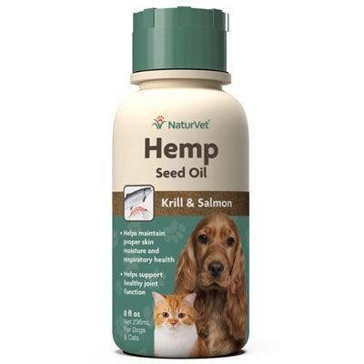 NaturVet Hemp Seed Oil Krill & Salmon 8oz