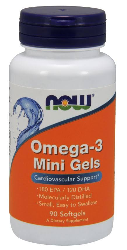 Now Foods Omega-3 Mini Gels - 90 Softgels