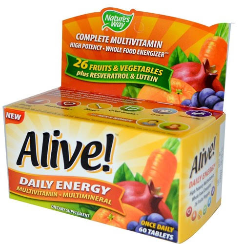 Nature's Way Alive Daily Energy Multivitamin Tablets - x60