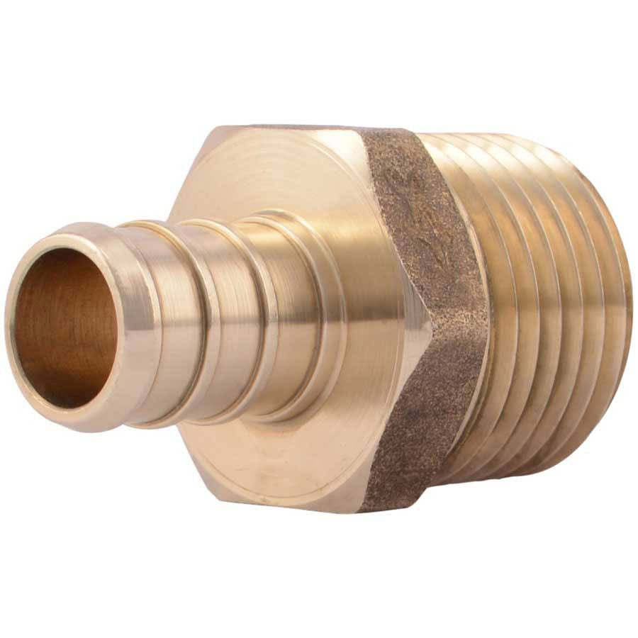SharkBite Brass PEX Barb X Male Pipe Thread Adapter - 1/2""