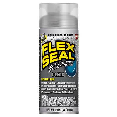 Flex Seal Liquid Rubber Sealant Coating, Clear, Minis - 2 oz