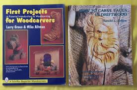 2 book woodcarving driftwood carve drift wood beginner carving