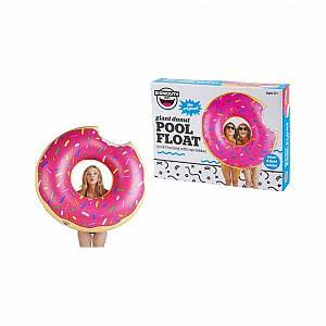 BigMouth Inc Giant Pool Float - Strawberry Frosted Donut, 4'